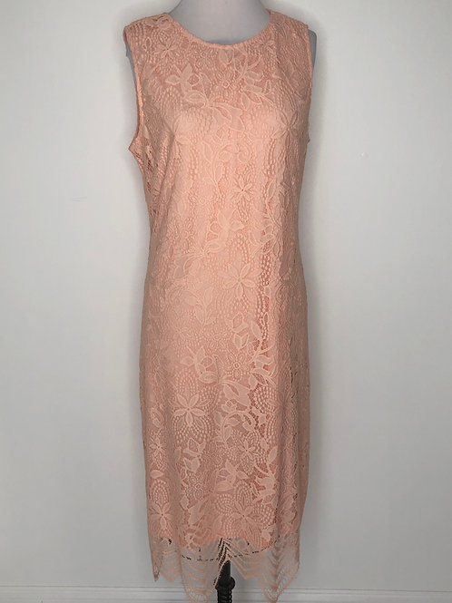 Peach Lace Dress Size 14