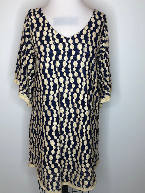 Navy and Cream Dress Size 6