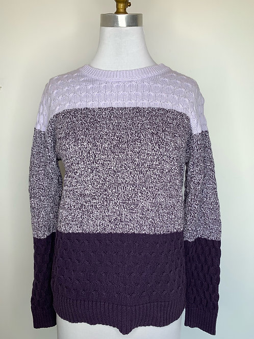 Purple color block - size large