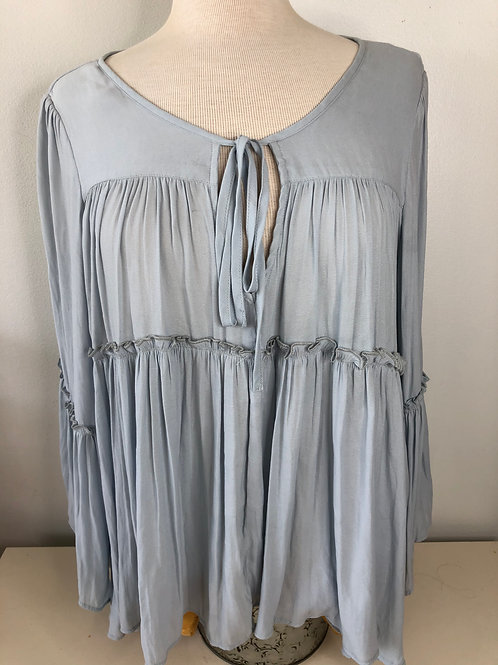 Free People Light Blue Top X Small