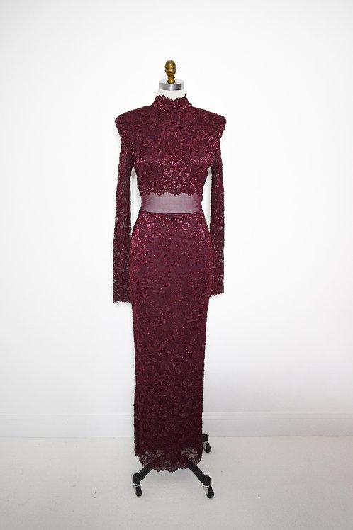 Burgundy Lace - Size10