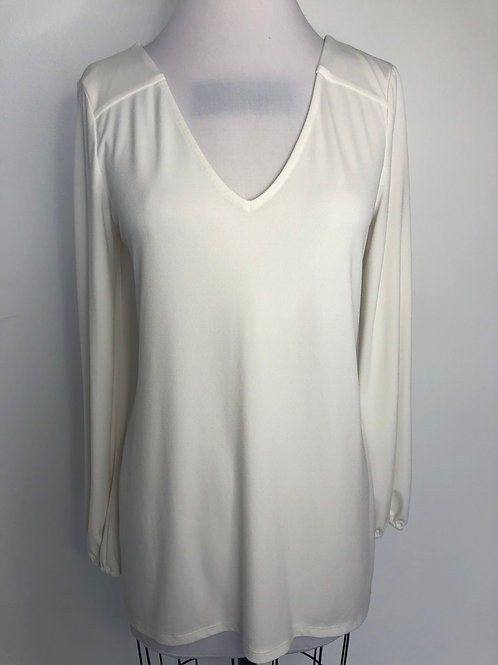 Ivory Lace Up Back Top Medium