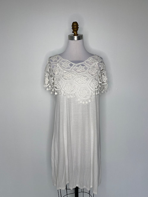 White top with lace Size Large