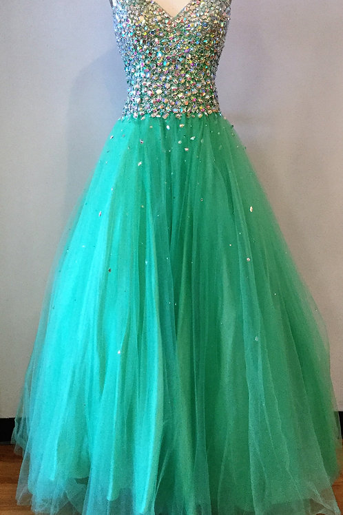 Green Tulle Ballgown - Size 12