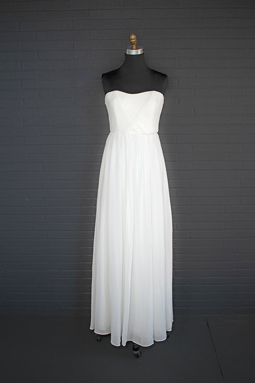 Ivory Chiffon Wedding Gown - Size 8