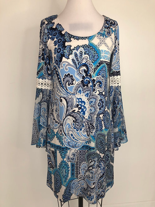 Blue Print Dress Size 4