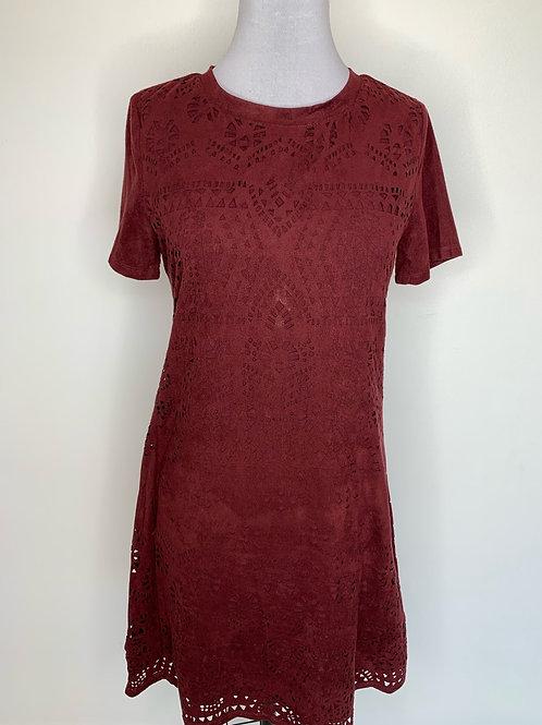 Maroon suede dress - size medium