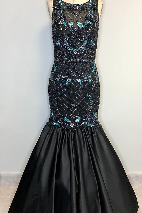 Black Beaded Mermaid - Size 10