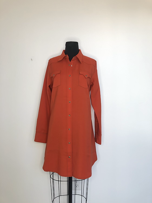 Cowgirl Justice Orange Dress Large