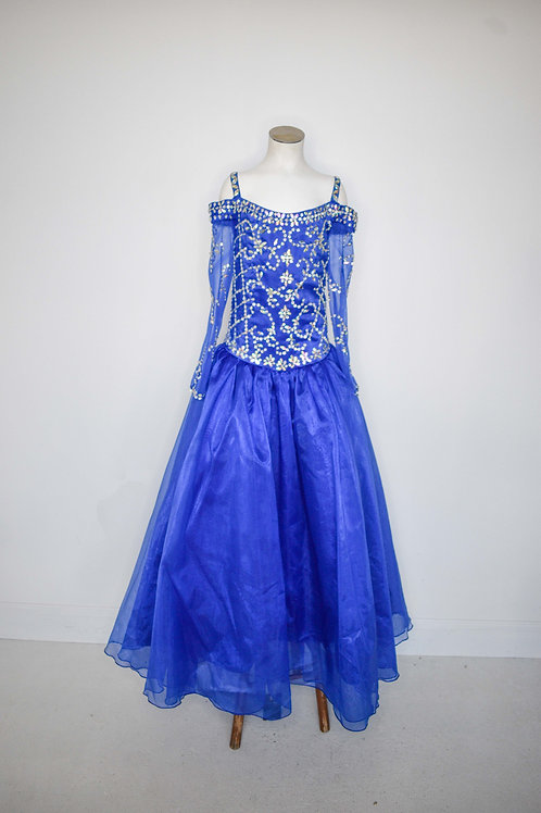 Royal Blue Little Girls Pageant - Size 10
