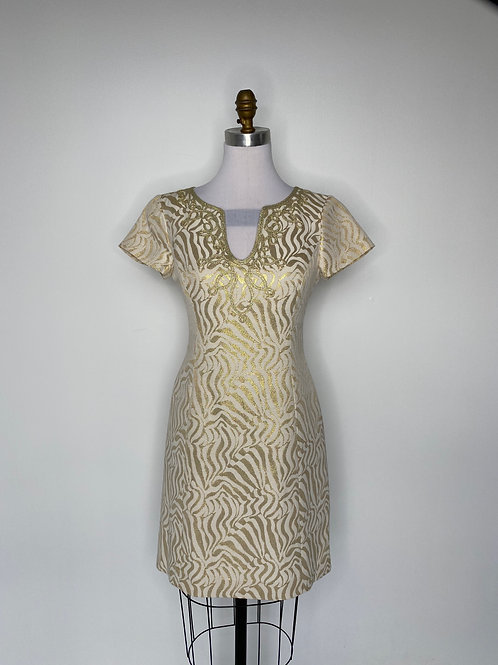 Lily Pulitzer Gold Dress Size 4