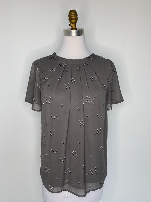 Ann Taylor Gray Top Size Small