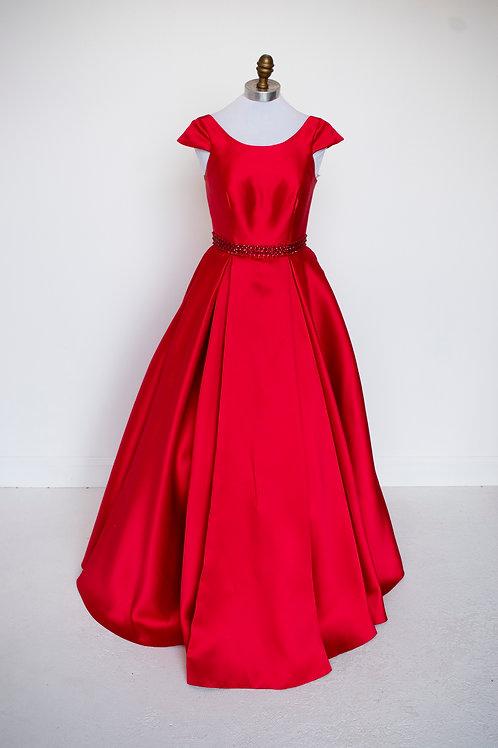 Red Ballgown - Size 2