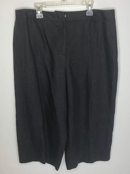 Talbot's Black Linen Capri Size 14