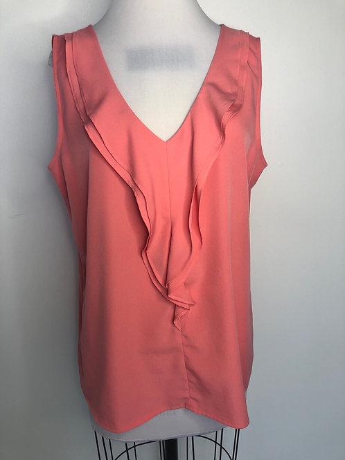 Pink Ruffled Top Large
