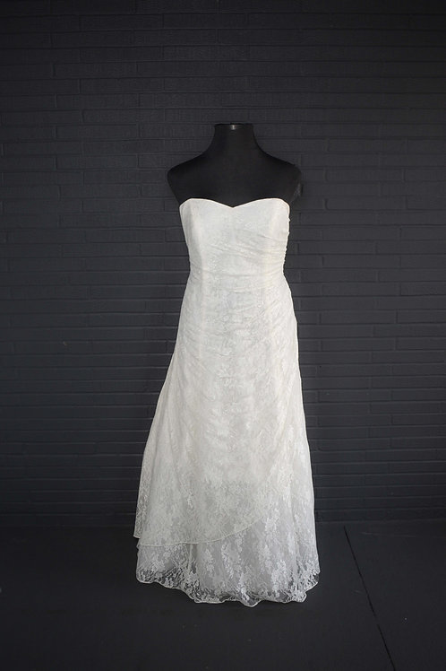 David's Bridal Ivory Lace Wedding Gown - Size 20W
