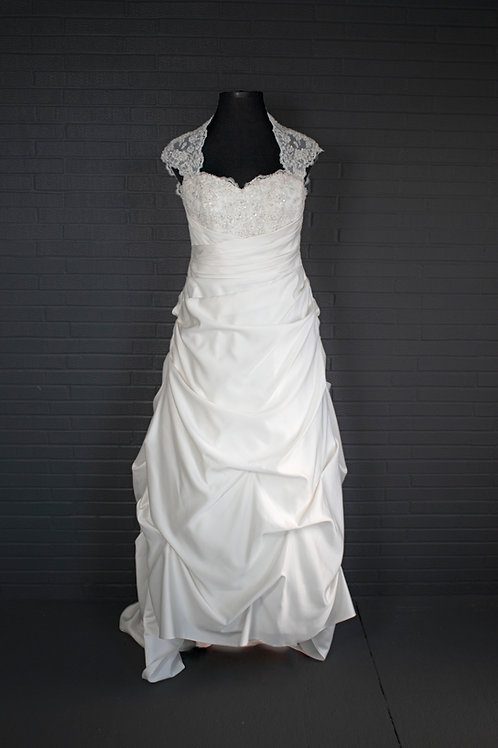 David's Bridal Ivory Wedding Gown - Size 16W