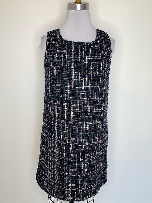 Navy Print dress - size medium