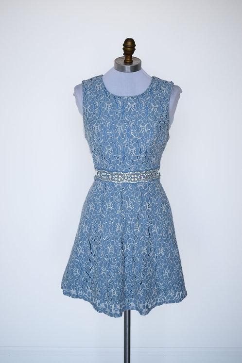 Blue Lace Short - Size 4