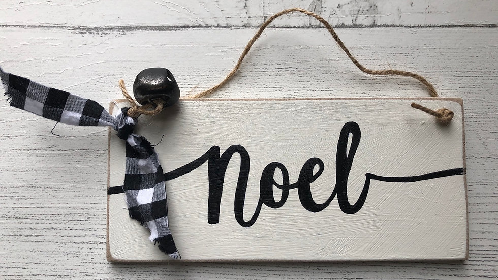 'Noel' Hand Painted Sign