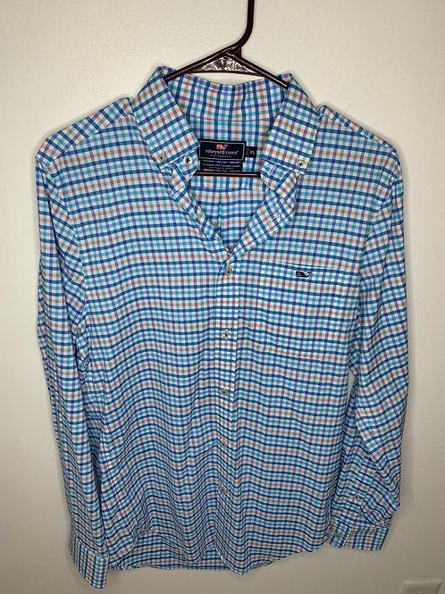 Vineyard Vines Plaid Dress Shirt - Size XS