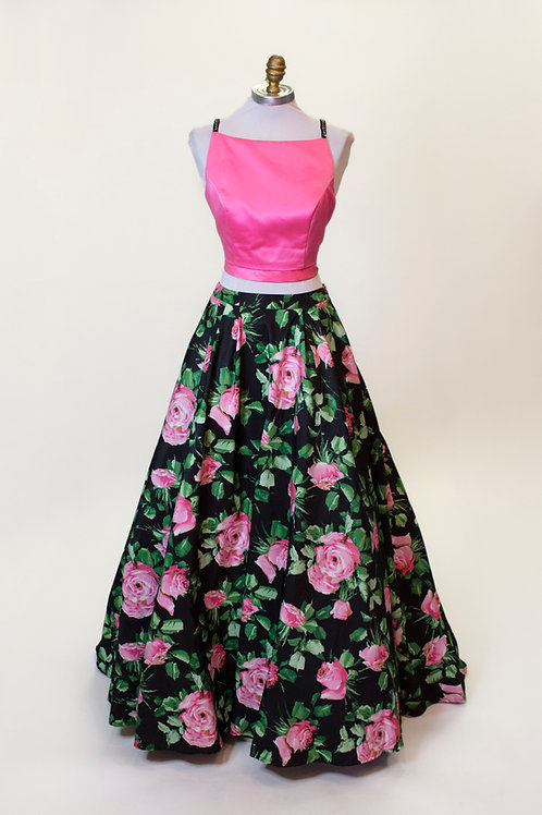 Sherri Hill Floral Two Piece - Size 4