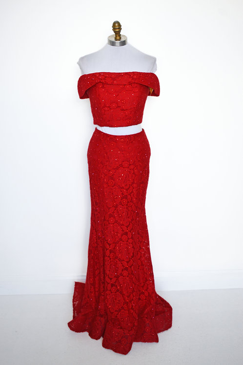 LaFemme Red Lace - Size 2