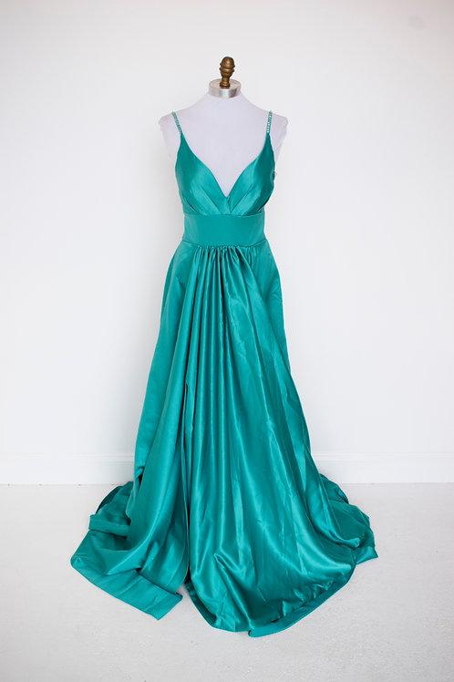Green Ballgown - Size 4