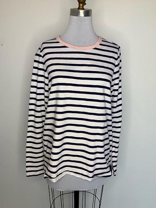 Calvin Klein navy striped top - size large