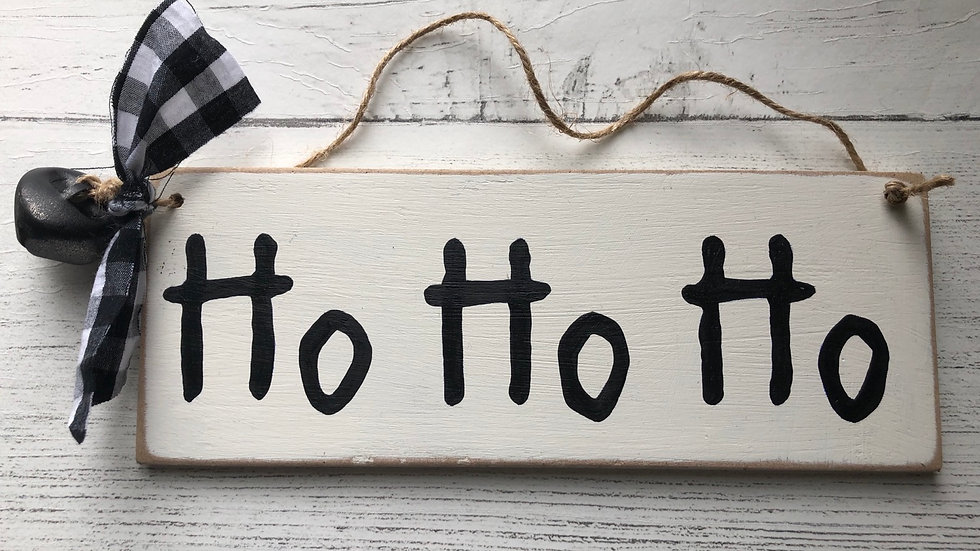 'HO HO HO' Hand Painted Sign