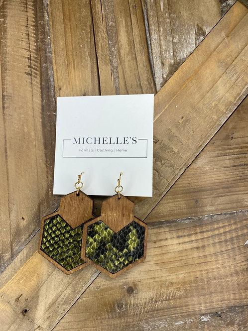 Snakeskin Dangle Earrings