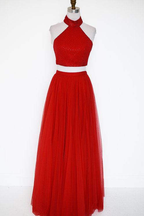 Sherri Hill Red Two Piece