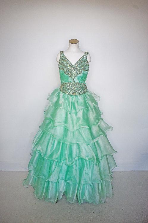 Tiffany Mint Green Girls Pageant - Size 12