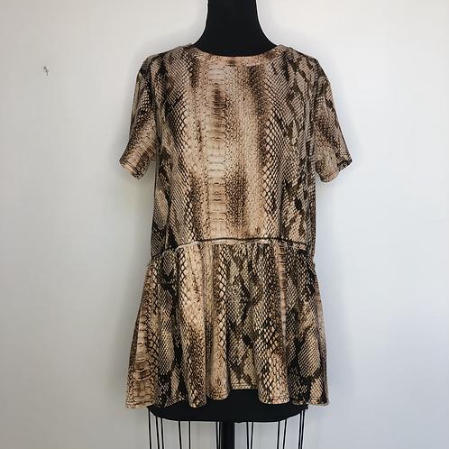 Snakeskin Printed Tunic Top XL
