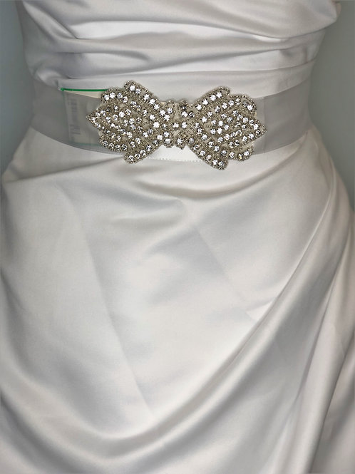 Satin Belt with Clear Stones