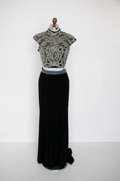 Sherri Hill Two Piece Jersey - Size 2