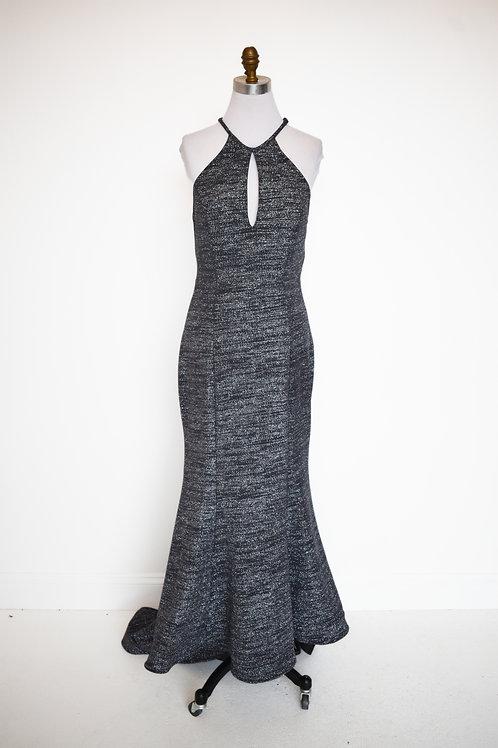 Jovani Gray Sparkle - Size 10