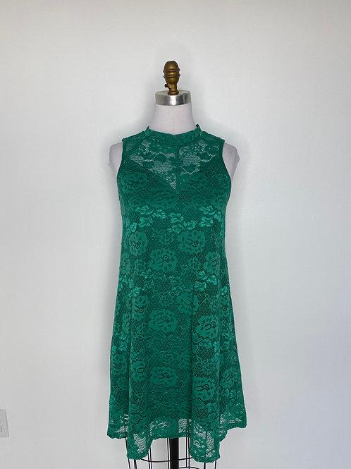 Green Lace Dress Size 8