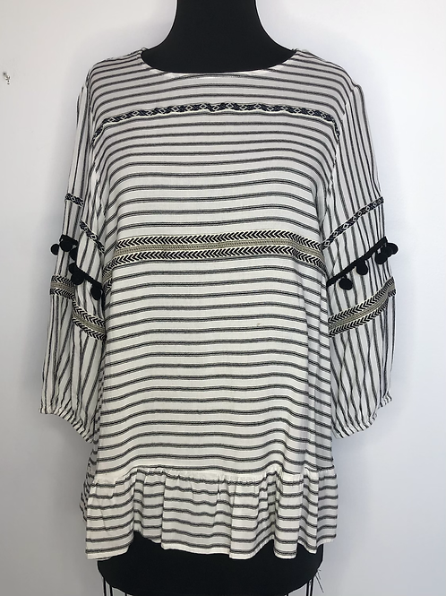 Black and Ivory Blouse XL