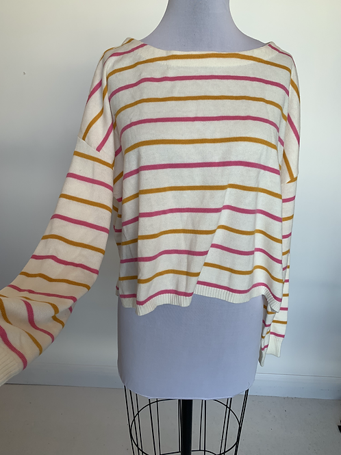 Pink Lily Sweater - Large
