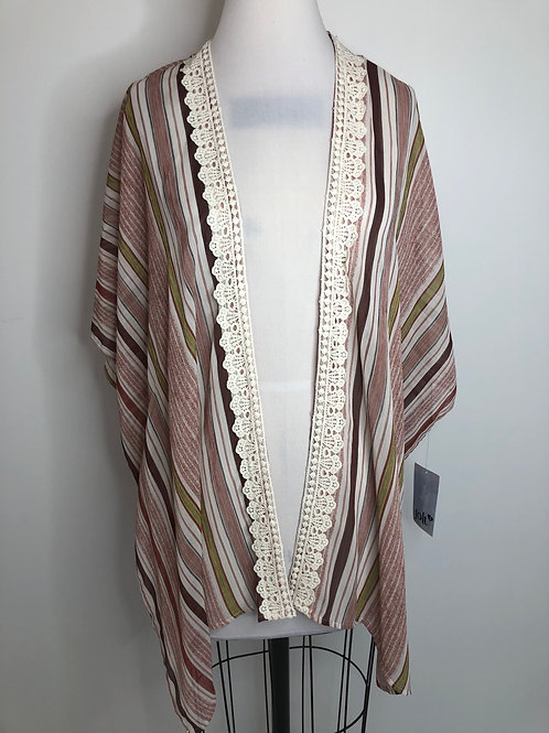 New! Striped Kimono Small