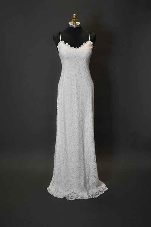 Grace Loves Lace Ivory Lace Wedding Gown - Size 4