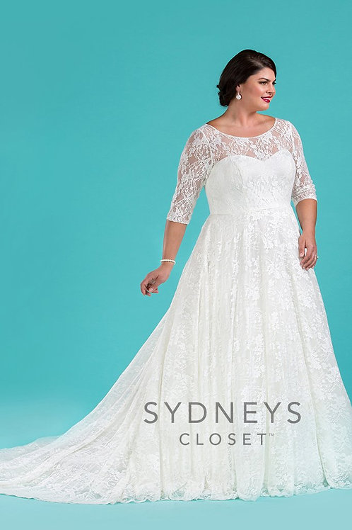 Sydney's Closet Ivory Wedding Gown - Sizes 14-32
