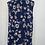 Thumbnail: Navy Floral Blouse Large Petite