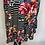 Thumbnail: Black and White Striped Floral Dress Size 16