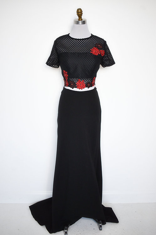 Sherri Hill Black/Red Two Piece - Size 12