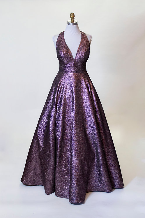 Jovani Purple Metallic - Size 8