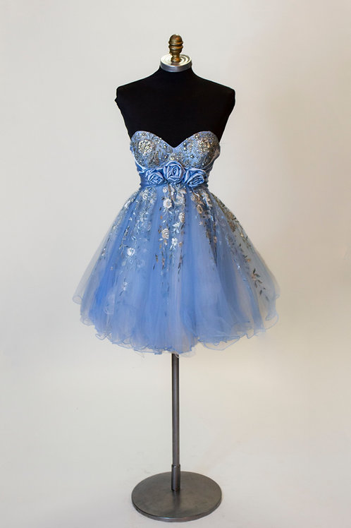 Sherri Hill Light Blue Short - Size 2