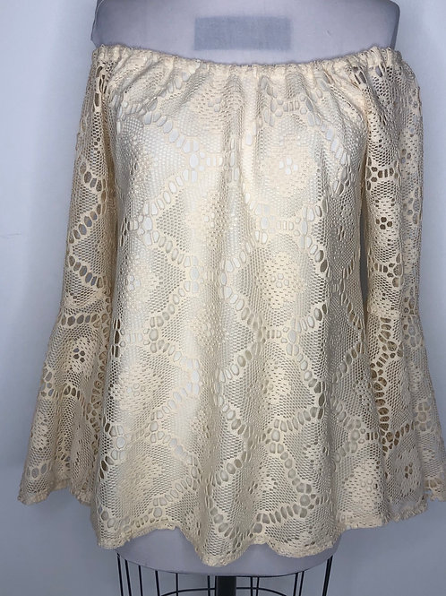 Ivory Lace Top Small