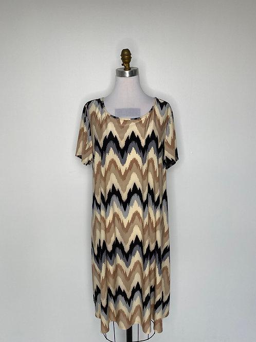 Brown Print Dress Size Large